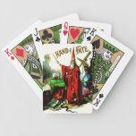 Vintage Magic Wizard Merlin Fate Litho Label Art Card Decks