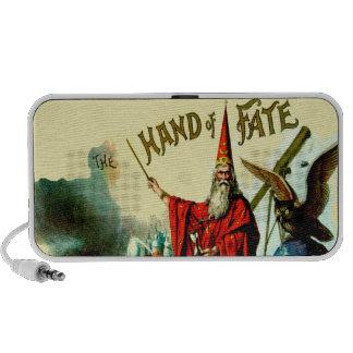 Vintage Magic Wizard Merlin Fate Litho Label Art iPod Speaker