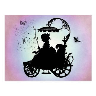 Vintage Magical Carriage Postcard