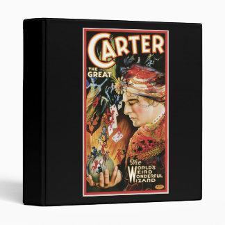Vintage Magician Carter the Great Vinyl Binders
