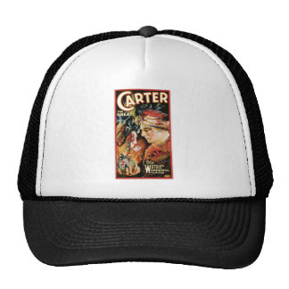 Vintage Magician Carter the Great Trucker Hats