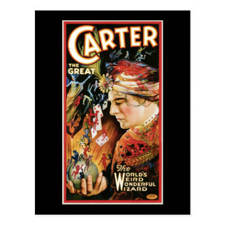 Vintage Magician Carter the Great Post Card