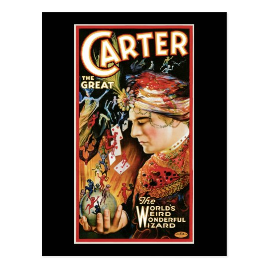 Vintage Magician Carter the Great Postcard