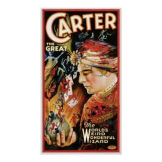 Vintage Magician Carter the Great Poster