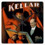 Vintage Magician Kellar Devil clock