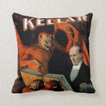 Vintage Magician Kellar Devil Pillow
