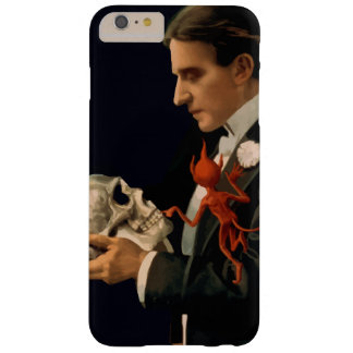 Vintage Magician Thurston holding a Human Skull Barely There iPhone 6 Plus Case