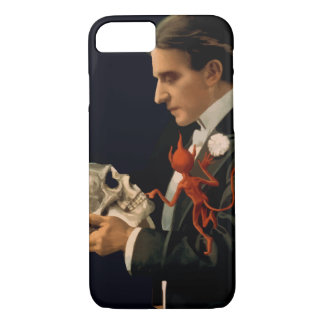 Vintage Magician, Thurston Holding a Human Skull iPhone 8/7 Case