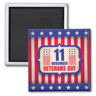 Vintage magnet for Veterans day