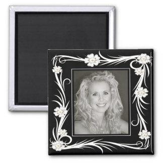 Vintage Magnet Vintage Floral Add Your photo