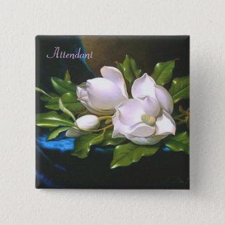 Vintage Magnolia Attendant Button