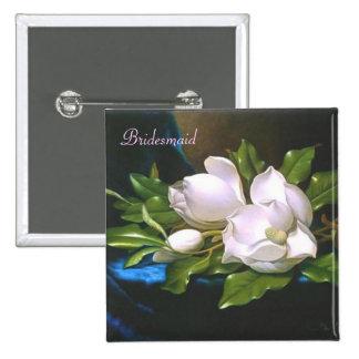Vintage Magnolia Bridesmaid Button