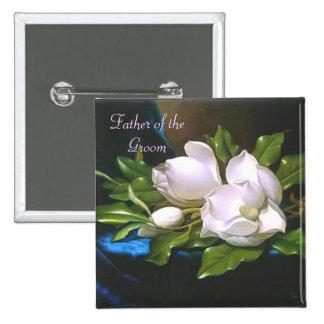 Vintage Magnolia Father/Groom Button