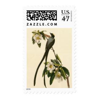 Vintage Magnolia Floral Bird Flycatcher Postage