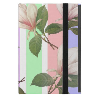 Vintage magnolia flower floral, soft pastel colo cover for iPad mini