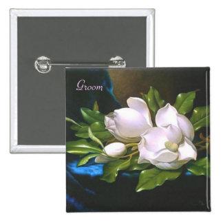 Vintage Magnolia Groom Button
