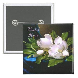 Vintage Magnolia Maid Of Honor Button