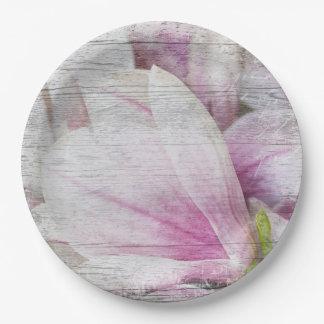 Vintage Magnolia Paper Plate