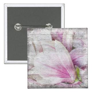 Vintage Magnolia Pinback Button
