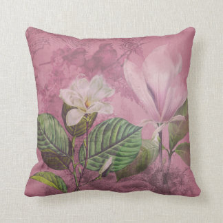 Vintage Magnolia Song Apparel and Gifts Throw Pillow