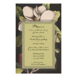 Vintage Magnolia Wedding Menu Stationery