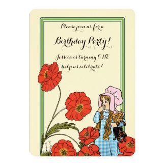 """Vintage mago de Oz, Dorothy, fiesta de cumpleaños Invitación 5"""" X 7"""""""