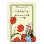Vintage mago de Oz, Dorothy, fiesta de cumpleaños Invitación 12,7 X 17,8 Cm