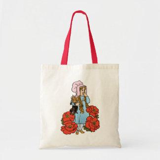 Vintage mago de Oz, Dorothy, flores rojas de la