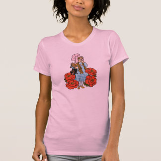 Vintage mago de Oz Dorothy flores rojas de la am