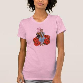Vintage mago de Oz, Dorothy, flores rojas de la Camiseta