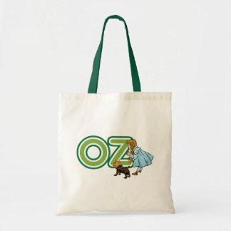 Vintage mago de Oz Dorothy Toto con las letras Bolsa Tela Barata