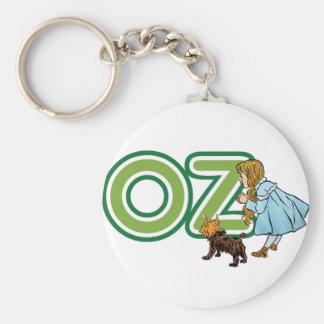 Vintage mago de Oz Dorothy Toto con las letras Llavero Redondo Tipo Pin