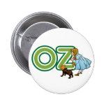 Vintage mago de Oz, Dorothy Toto con las letras Chapa Redonda 5 Cm