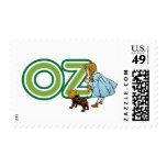 Vintage mago de Oz, Dorothy Toto con las letras Sellos