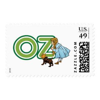 Vintage mago de Oz Dorothy Toto con las letras Sellos