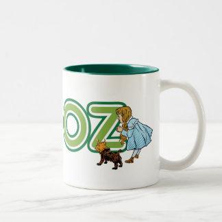 Vintage mago de Oz Dorothy Toto con las letras Taza De Dos Tonos