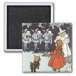 Vintage mago de Oz Dorothy Toto Glinda Munchkins Imán De Nevera