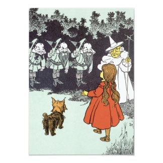 """Vintage mago de Oz Dorothy Toto Glinda Munchkins Invitación 5"""" X 7"""""""