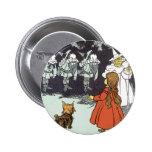 Vintage mago de Oz Dorothy Toto Glinda Munchkins Pin
