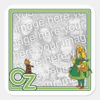 Vintage mago de Oz; Dorothy y Toto Pegatina Cuadrada