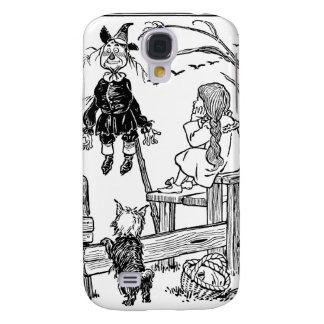 Vintage mago de Oz, espantapájaros de la reunión Funda Para Galaxy S4
