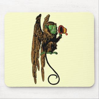 Vintage mago de Oz, gorra malvado del mono del Mousepad