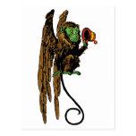 Vintage mago de Oz, gorra malvado del mono del Postal