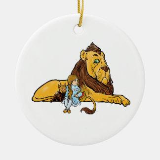 Vintage mago de Oz, león cobarde, Dorothy, Toto Adorno De Navidad