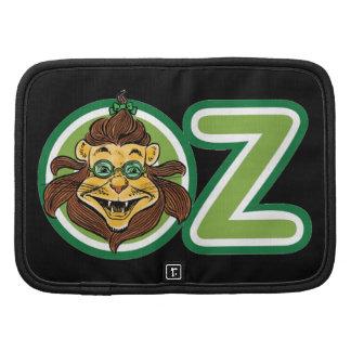 Vintage mago de Oz, león dentro de la letra O Planificador