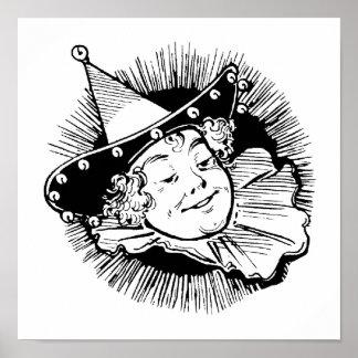 Vintage mago de Oz, señora Munchkin Portrait Póster