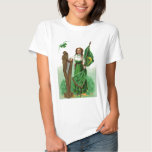 Vintage Maid Harp Of Erin St Patrick's Day Card Tshirts