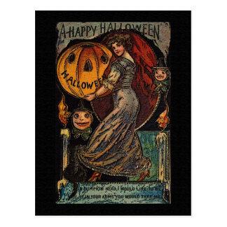 Vintage Maiden Halloween Card