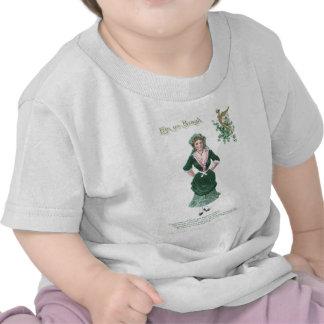 Vintage Maiden Harp of Erin St Patrick's Day Card Shirt