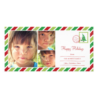 Vintage Mail Holiday Photo Card